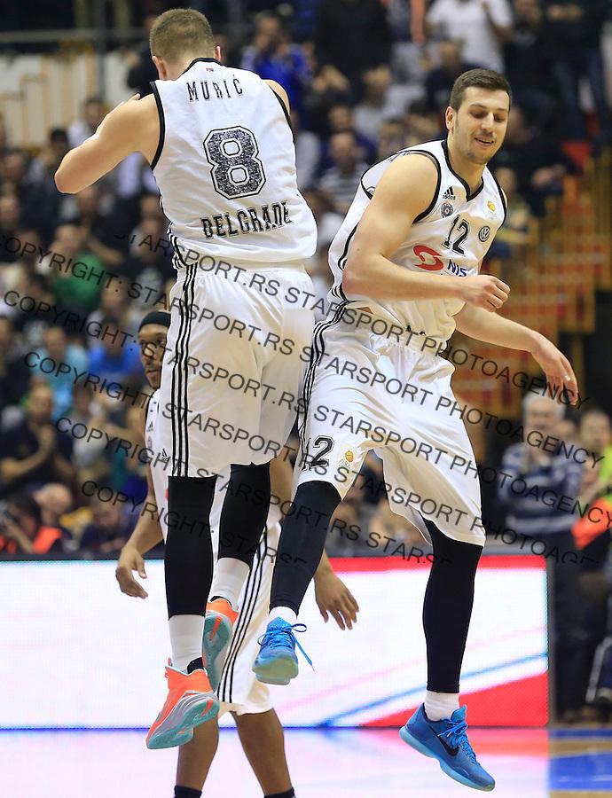 Kosarka ABA League season 2014-2015<br /> Partizan v Zadar<br /> Dragan Milosavljevic and Edo Muric<br /> Beograd, 15.03.2015.<br /> foto: Srdjan Stevanovic/Starsportphoto&copy;