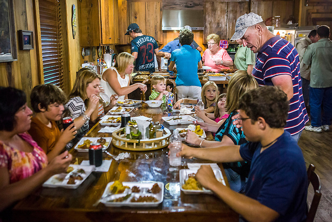 "Troy Landry and the entire Landry family comes together for a special Swampsgiving feast on the History Channel's ""Swamp People"""