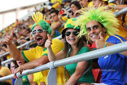 Brazil fans (BRA), <br /> June 15, 2013 - Football / Soccer : <br /> FIFA Confederations Cup Brazil 2013, Group A <br /> match between Brazil 3-0 Japan <br /> at Estadio Nacional, Brasilia, Brazil. <br /> (Photo by Daiju Kitamura/AFLO SPORT)