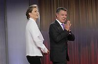 BOGOTA -COLOMBIA-7-OCTUBRE-2016  Conferencia de prensa del Presidente Juan Manuel Santos después de ganar el Premio Nóbel de La Paz./ Photo: VizzorImage / Felipe Caicedo  / Staff
