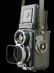 Baby Rolleiflex roll film camera. Grey