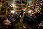 Republican presidential hopeful Mitt Romney speaks during a campaign stop at the Galleria De Paco restaurant in Waterloo, Iowa, Monday, December 31, 2007. (Brian Baer/  Sacramento Bee/  MCT)