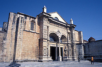 Cathedral Santa Maria la Menor or La Catedral Primada de América, Santo Domingo, Dominican Republic. This is the first cathedral built in the Americas. Santo Domingo's Zona Colonial was declared a UNESCO World heritage Site in 1990.