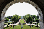 Looking out at the gardens of the Victoria Memorial in Calcutta/Kolkata, India