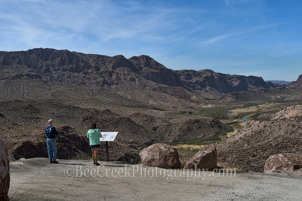 Overlook of Rio Grande and Mexico mountains from Big Bend State Park.