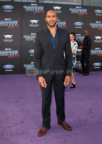 """HOLLYWOOD, CA - April 19: Henry Simmons, At Premiere Of Disney And Marvel's """"Guardians Of The Galaxy Vol. 2"""" At The Dolby Theatre  In California on April 19, 2017. Credit: FS/MediaPunch"""