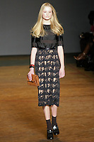 Maud Welzen walks runway in an outfit from the Marc by Marc Jacobs Fall/Winter 2011 collection, during New York Fashion Week, Fall 2011.