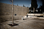 Yad Vashem Holocaust memorial in Jerusalem on January 27, 2010 during Holocaust Remembrance Day. Sirens wailed at the former Nazi German Auschwitz-Birkenau death camp as ceremonies began to mark the 65th anniversary of the liberation of the symbol of Nazi German genocide. Auschwitz survivors, Soviet veterans and leaders including Israeli Premier Benjamin Netanyahu gathered for the emotionally-charged memorial event ..© ALESSIO ROMENZI
