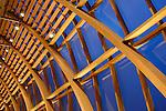 Modern wooden construction of Art Gallery of Ontario facade. Toronto Ontario Canada.