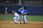 Ole Miss' Austin Anderson (8) is forced out at second Kentucky's Taylor Black (5) at Oxford-University Stadium in Oxford, Miss. on Friday, April 15, 2011. Ole Miss won 3-2.