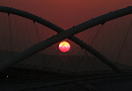 Olympia 2004 Athen Feature; Sonnenuntergang ueber dem Olympiastadion