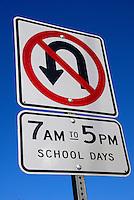 Traffic sign no U turn