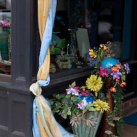 A beautifully decorated storefront on Water Street in Excelsior, Minnesota.