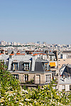 roof tops of Paris France in May 2008
