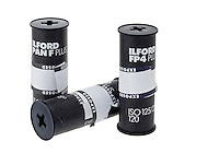 Rolls of Ilford Black and white Film - Feb 2012.