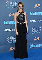 Emma Stone at the 22nd Annual Critics' Choice Awards at Barker Hangar, Santa Monica Airport. <br /> December 11, 2016<br /> Picture: Paul Smith/Featureflash/SilverHub 0208 004 5359/ 07711 972644 Editors@silverhubmedia.com