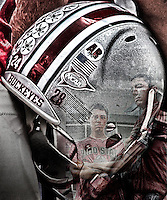 Ohio State University Fans merged with Beanie Wells Helmet