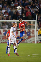 CARSON, CA – JANUARY 22: USA midfielder Jeff Larentowicz (8) and Chile forward Estaban Paredes (9) during the international friendly match between USA and Chile at the Home Depot Center, January 22, 2011 in Carson, California. Final score USA 1, Chile 1.