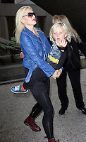 Gwen Stefani and Zuma Nesta Rock Rossdale arrive at the International Los Angeles airport