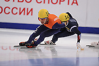"SHORT TRACK: MOSCOW: Speed Skating Centre ""Krylatskoe"", 15-03-2015, ISU World Short Track Speed Skating Championships 2015, Quarterfinals 1000m Men, Sjinkie KNEGT (#148   NED), ©photo Martin de Jong"