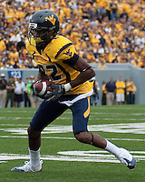 WVU wide receiver Alric Arnett. The WVU Mountaineers defeated the East Carolina Pirates 35-20 at Mountaineer Field at Milan Puskar Stadium, Morgantown, West Virginia on September 12, 2009.
