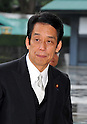 September 2, 2011, Tokyo, Japan - Tatsuo Kawabata, newly-appointed minister of Internal Affairs and Communications, arrives for an attestation ceremony before Emperor Akihito at the Imperial Palace in Tokyo on Friday, September 2, 2011. (Photo by Natsuki Sakai/AFLO) [3615] -mis-