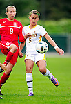 14 October 2010: University of Vermont Catamount midfielder/defender Alexa DeMaio, a Freshman from Yardley, PA, in action against the University of Hartford Hawks at Centennial Field in Burlington, Vermont. The Hawks defeated the Lady Cats 6-2 in America East play. Mandatory Credit: Ed Wolfstein Photo