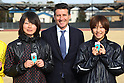 (L to R) Azusa Saito,    Sebastian Coe LOCOG Chairman, Chihiro Sunaga, .February 28, 2012 - JOC : .Sebastian Coe LOCOG Chairman inspected NTC .at National Training Center, Tokyo, Japan. .(Photo by Daiju Kitamura/AFLO SPORT) [1045]