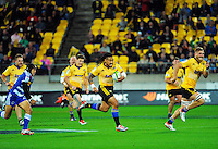 Ma'a Nonu in action during the Super Rugby match between the Hurricanes and Stormers at Westpac Stadium, Wellington, New Zealand on Friday, 2 April 2015. Photo: Dave Lintott / lintottphoto.co.nz