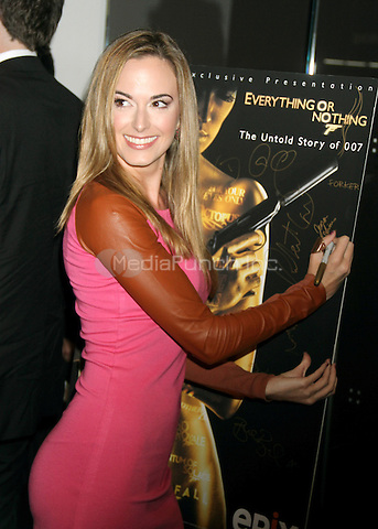 NEW YORK, NY - OCTOBER 03: Jena Sims in attendance as EPIX presents the premiere of 'Everything or Nothing: The Untold Story of 007' at the Museum of Modern Art on October 3, 2012 in New York City. ©RW/MediaPunch Inc.
