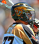 24 August 2008: Rochester Rattlers' Midfielder Colin Doyle in action against the Denver Outlaws during the Championship Game of the Major League Lacrosse Championship Weekend at Harvard Stadium in Boston, MA. The Rattles defeated the Outlaws 16-6 to take the league honor for the 2008 season...Mandatory Photo Credit: Ed Wolfstein Photo