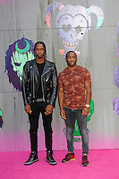 LONDON, ENGLAND - AUGUST 3: Krept &amp; Konan attending the 'Suicide Squad' European Premiere at Odeon Cinema, Leicester Square on August 3, 2016 in London, England.<br /> CAP/MAR<br /> &copy;MAR/Capital Pictures /MediaPunch ***NORTH AND SOUTH AMERICAS ONLY***