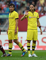 FUSSBALL   1. BUNDESLIGA  SAISON 2012/2013   2. Spieltag 1. FC Nuernberg - Borussia Dortmund       01.09.2012 Mats Hummels und Neven Subotic (v. li., Borussia Dortmund)