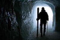 Aquille du Midi ice tunnel