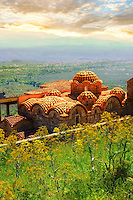 The exterior of the Byzantine Metropolis Church , Mystras ,  Sparta, the Peloponnese, Greece. A UNESCO World Heritage Site