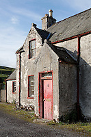Porch of House on Mitchell Place, Wanlockhead, Southern Uplands, Scotland
