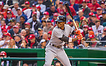 7 April 2016: Miami Marlins infielder Dee Gordon at bat during the Washington Nationals Home Opening Game at Nationals Park in Washington, DC. The Marlins defeated the Nationals 6-4 in their first meeting of the 2016 MLB season. Mandatory Credit: Ed Wolfstein Photo *** RAW (NEF) Image File Available ***