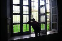 Casa di reclusione di Porto Azzurro, isola d' Elba..House of imprisonment of Porto Azzurro, Elba Island. .Corridoi interni. Interior corridors.. .