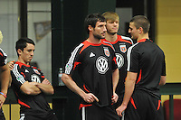 D.C. United midfielder Chris Pontius during the pre-season fitness training session at George Manson University before departing for Bradenton Florida to get ready for the 2013 season, Friday January 18, 2013.