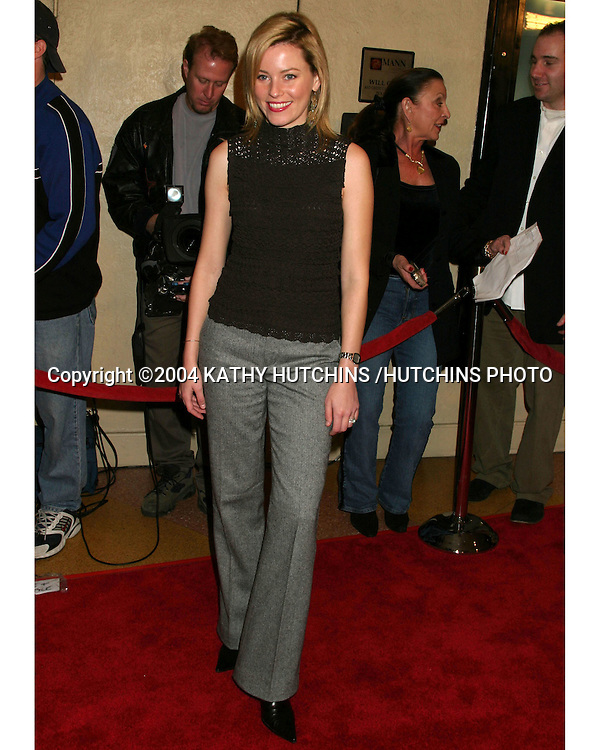 """©2004 KATHY HUTCHINS /HUTCHINS PHOTO.PREMIERE OF """"LOVE SONG FOR BOBBY LONG"""" .WESTWOOD, CA.DECEMBER 13, 2004..ELIZABETH BANKS"""