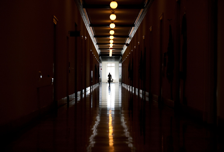 UNITED STATES - AUGUST 26:  The third floor of Cannon Building is pictured during the August Congressional recess.  (Photo By Tom Williams/Roll Call)