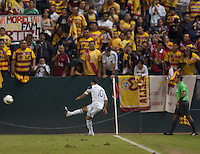 The LA Galaxy defeated los Monarcas de Morelia 2-1 in a CONCACAF Champions League first round match at Home Depot Center stadium in Carson, California on September 28, 2011.
