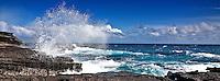 Crashing waves at Lana'i Lookout, east O'ahu