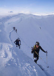 Nearing one of the checkpoints during the Spearhead Challenge backcountry ski race at Whistler