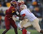 Lafayette High's Keeyon Tyson (36) and Lafayette High's Jamel Dennis (6) vs. Laurel in the MHSAA Class 4A championship game at Mississippi Veterans Memorial Stadium in Jackson, Miss. on Saturday, December 3, 2011. Lafayette won 39-29, the team's 32 straight win, to capture their second consecutive state championship.