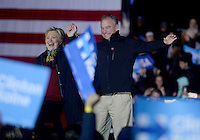 PHILADELPHIA, PA - OCTOBER 22: Hillary Clinton and Tim Kaine campaign for President and Vice-President of the United States at University of Pennsylvania on October 22, 2016 in Philadelphia, Pennsylvania. Credit: Dennis Van Tine/MediaPunch