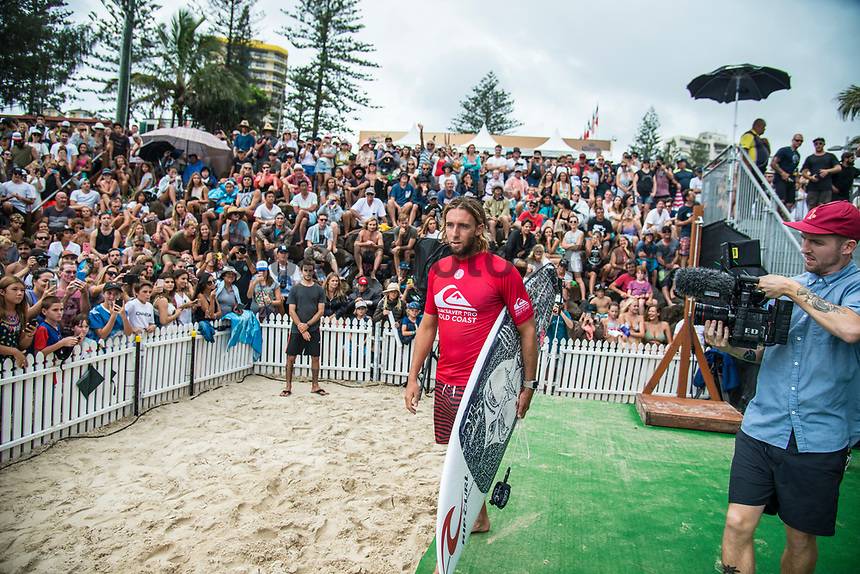 COOLANGATTA, Queensland/AUS (Sunday, March 19, 2017) Matt Wilkinson (AUS) - The Quiksilver and Roxy Pro Gold Coast was called ON today in three - to - four foot (1 m) surf at Snapper Rocks. The event got underway at 7:05 a.m. with the Men's Quarterfinals followed by the Women's Quarterfinals and ran through to the finals with Owen Wright (AUS) posting a victory with his first event back from injury and Stephanie Gilmore (AUS) adding another Roxy Pro title to her name. Wright defeated defending event champion Matt Wilkinson(AUS) in an all goofy-foot final while Lakey Peterson (USA) was runner up to Gilmore.   Photo: joliphotos.com
