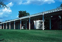 Renzo Piano: The Menil Collection, Houston. North side of building, 1515 Sull Ross St.