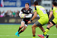 Ben Spencer of Saracens looks to pass the ball. Aviva Premiership match, between Saracens and Leicester Tigers on October 29, 2016 at Allianz Park in London, England. Photo by: Patrick Khachfe / JMP