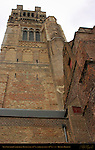 Cathedral Sint-Salvator Tower, Base 12th c., upper sections 19th c., Bruges, Brugge, Belgium
